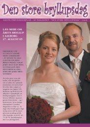 læs mere om årets bryllup i aalborg 27. august 05 - CB-Reklame