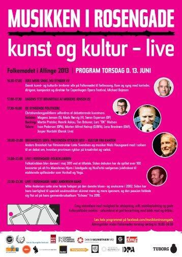 Folkemødet i Allinge 2013 | PROGRAM TORSDAG D ... - Nissen & Co.