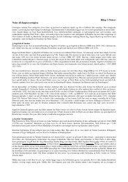 Bilag 1 (Noter) Noter til slægtsoversigten