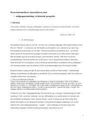 Hvem kommunikerer journalisterne med – målgruppetænkning i et ...