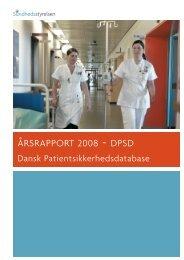 ÅRSRAPPORT 2008 - DPSD - Sundhedsstyrelsen