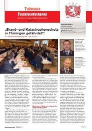 """THÜRINGER FEUERWEHRVERBAND """"Brand- und Katastrophen ..."""