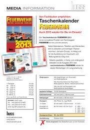 Taschenkalender - Feuerwehr - Retten - Löschen - Bergen