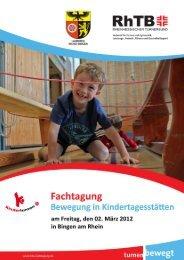 """ANMELDUNG Fachtagung """"Bewegung in Kindertagesstätten"""""""