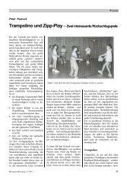 Trampolino und Zipp-Play– Zwei interessante Rückschlagspiele