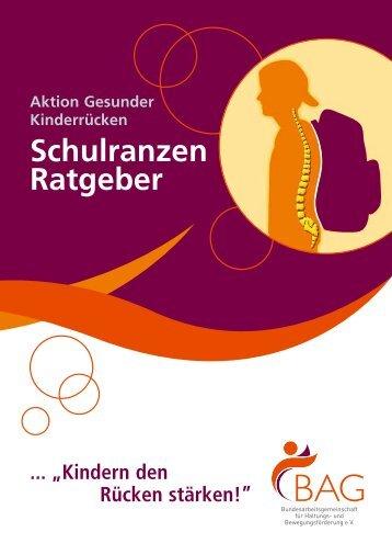Schulranzen Ratgeber - Bundesarbeitsgemeinschaft für Haltungs