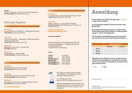 Flyer / Programm - Bundesarbeitsgemeinschaft für Haltungs