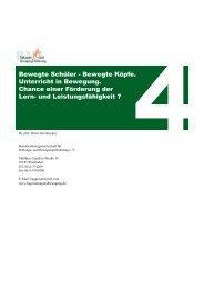 Bewegte Schüler - Bundesarbeitsgemeinschaft für Haltungs