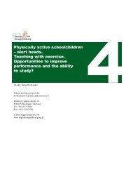 Physically active school children - alert heads