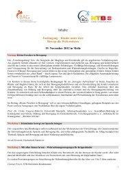 Inhaltsbeschreibung - Bundesarbeitsgemeinschaft für Haltungs