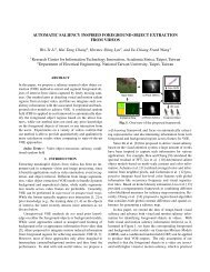 AUTOMATIC SALIENCY INSPIRED ... - Academia Sinica
