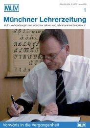Münchner Lehrerzeitung Heft 1 - 2008 - MLLV - BLLV