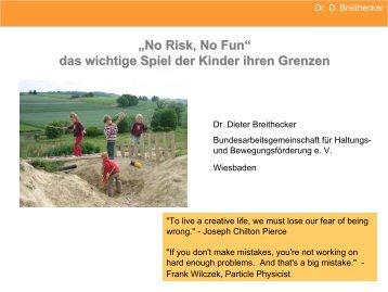 """Vortrag """"No risk, no fun"""" - Bundesarbeitsgemeinschaft für Haltungs"""