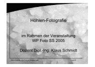 Höhlen-Fotografie