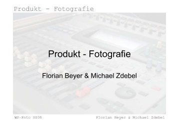 Produkt - Fotografie