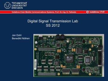 Digitale Signalverarbeitung Praktikum - Vodafone Chair Mobile ...