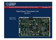 Digital Signal Transmission Lab SS 2011 - Vodafone Chair Mobile ...
