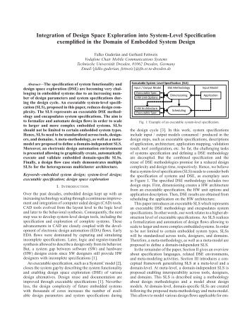 Design Space Exploration In Embedded Systems: Design-Space Exploration of High-tech Embedded Systemsrh:yumpu.com,Design