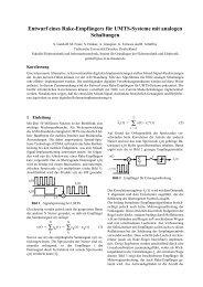 Entwurf eines Rake-Empfängers für UMTS-Systeme mit analogen ...