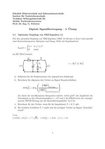 Digitale Signalübertragung – 3. Übung