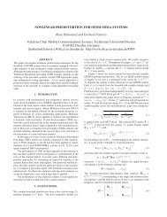 NONLINEAR PREDISTORTION FOR OFDM SDMA SYSTEMS René ...