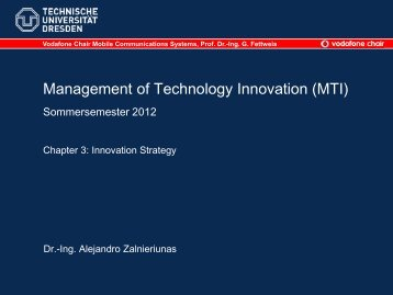 Management of Technology Innovation - Vodafone Chair Mobile ...