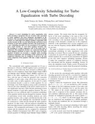 A Low-Complexity Scheduling for Turbo Equalization with Turbo ...