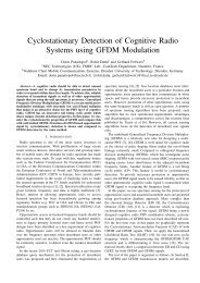 Cyclostationary Detection of Cognitive Radio Systems using GFDM ...
