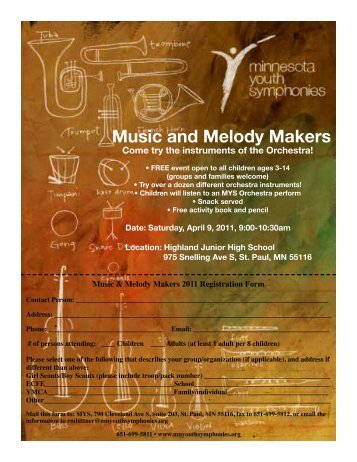 Music and Melody Makers - Minnesota Youth Symphonies