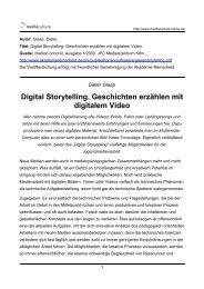 Digital Storytelling. Geschichten erzählen mit digitalem Video