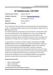 07 Dateiformate: CD/ DVD - Mediaculture online