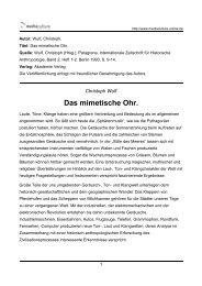 Das mimetische Ohr. - Mediaculture online