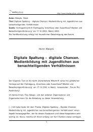 digitale Chancen - Mediaculture online