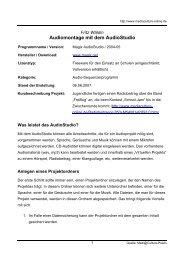 Audiomontage mit dem AudioStudio - Mediaculture online