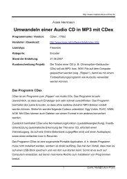 Umwandeln einer Audio CD in MP3 mit CDex - Mediaculture online