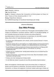 Das Wiki-Prinzip. - Mediaculture online