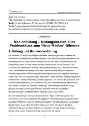 """Neue-Medien""-Dilemma"