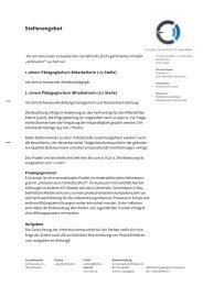 Stellenausschreibung PM E-Inclusion - Mediaculture online