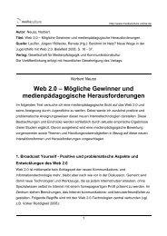 Web 2.0 – Mögliche Gewinner und medienpädagogische ...