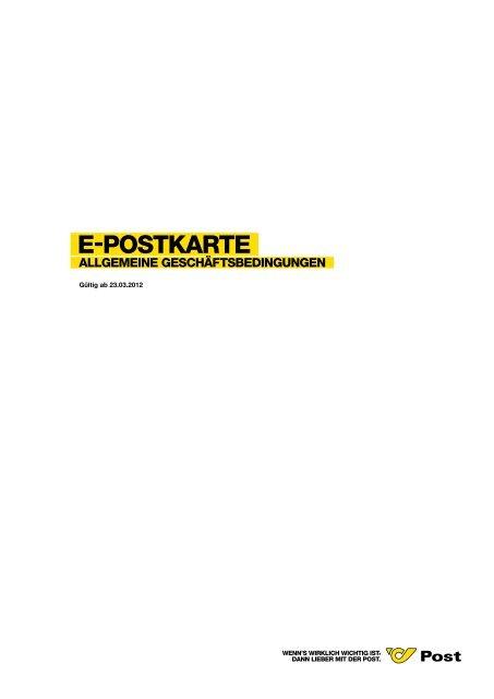 AGB e-postkarte - Österreichische Post AG
