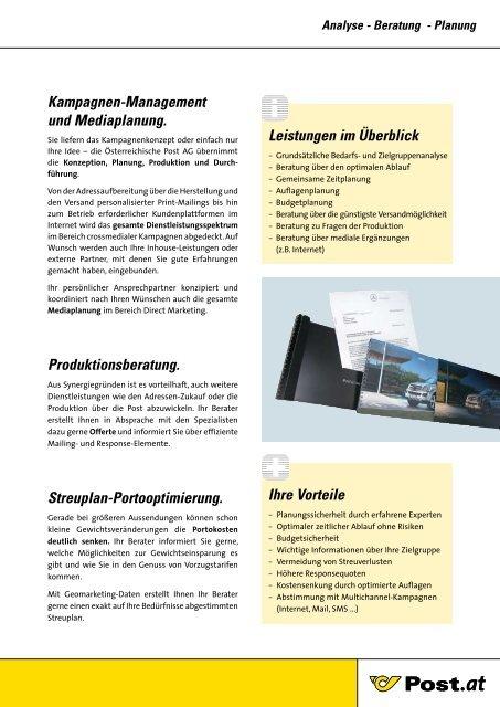 Leistungsspektrum - Österreichische Post AG
