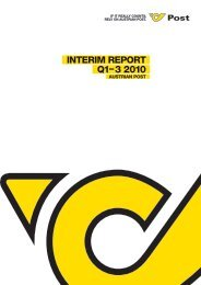 Interim Report Q1-3 2010 - Österreichische Post AG