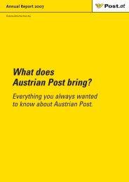 Annual Report 2007 - Privat - Österreichische Post AG