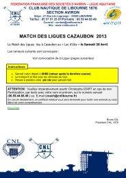 match des ligues cazaubon 2013 - Aviron - Club Nautique de Libourne