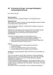 Evaluering af borger- og brugerinddragelse i Jammerbugt Kommune