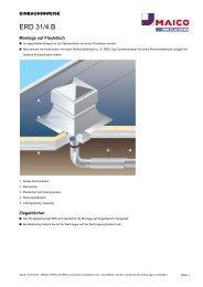 ERD 31/4 B - MAICO Ventilatoren