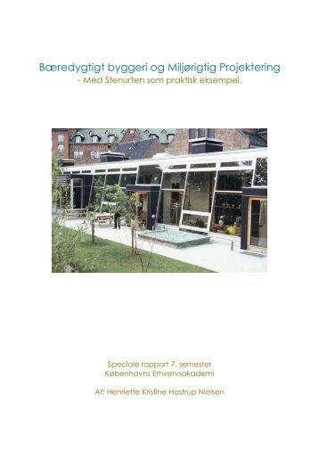 Bæredygtigt byggeri og Miljørigtig Projektering - Københavns ...