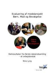 Evaluering af modelprojekt Børn, Mad og Bevægelse