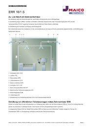 ERR 16/1 S - MAICO Ventilatoren