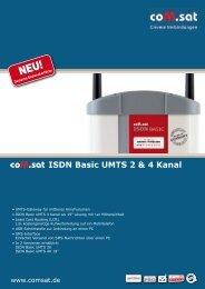 ISDN Basic UMTS 2 & 4 Kanal - coM.sat - Clevere Verbindungen